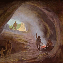In prehistoric times the issue of lighting of the cave had been easily solved - each had a hearth. Daylight penetrated either from above through the hole ceiling or from aside on the inlet side. If there was lack of light people used a torch light. So primitive people resolved, first of all, the problem of their own security.