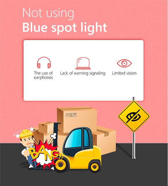 Wihtout BLUE SPOT SAFETY LIGHT